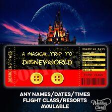 Disney Ticket Flight Boarding Pass Paris Florida Mickey Mouse Disneyland Tickets