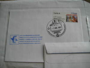 2021 Spain Cover w/ Tarifa A Stamp & Antartica Expedn. Canceled due to pandemic