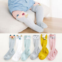HB- Baby Kids Toddlers Cotton Knee High Socks Tights Leg Warmer Long Stockings
