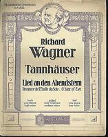 "Richard Wagner : "" Lied an den Abendstern ""   ~ übergroße Noten, ALT"
