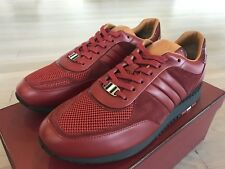 700$ Bally Ascar Red Leather and Suede Sneakers size US 9 Made In Italy