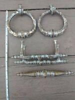 Drawer Pulls Lot of Dresser Antique Vintage Ornate Heavy Brass Metal Handles