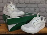 PUMA MENS UK 10 EU 44 1/2 WHITE BLAZE CORE UPDATED SPEC TRAINERS