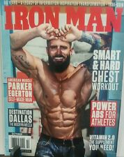 Iron Man October 2016 Paker Egerton Chest Workout Power Abs FREE SHIPPING