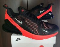 New Nike Air Max 270 Black Red Silver Men's Size 10.5 Running Sneaker AH8050-026