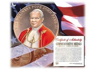 Colorized POPE JOHN PAUL II U.S. MINT MEDAL HONOR- Officially Licensed
