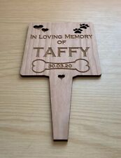 Personalised Engraved Pet Memorial Grave Marker Plaque- In Loving Dog Cat Rabbit