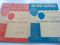 "Maxwell Eckstein ""Big-Note"" tunes sheet music for piano set of two (2) books"
