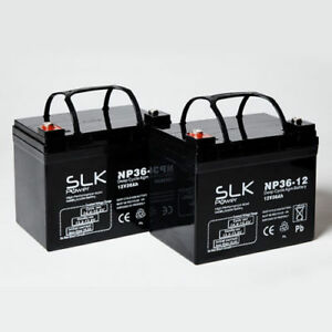 12v Shoprider TE888NR Mobility Scooter Batteries x 2