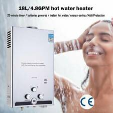 18L 5GPM Hot Water Heater Propane Gas Instant Tankless Boiler LPG Shower
