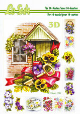 Le Suh Flowers A5 Book 3D Decoupage Card Making Paper Crafts *CUTTING REQUIRED*