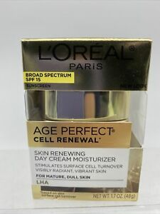 L'Oreal Age Perfect Cell Renewal Renewing Day Creme Mature LHA 1.7oz 9/21