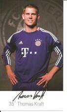 FC Bayern München Autogrammkarte Thomas Kraft