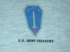 US Army infantry t shirt sz Large in ash gray. Short sleeve 99% cotton