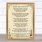 Bob Dylan Make You Feel My Love Song Lyric Quote Print