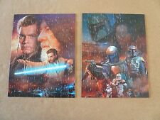 PRELOVED - 2 x MB Hasbro Star Wars Jigsaw Puzzles - 100 pc - COMPLETE
