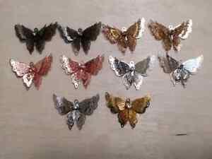 3pcs 3D Butterflies Light Metal Rhinestone Craft/Jewelry Making/Pendant/Various