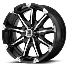 Set 5 20x9 KMC XD779 Badlands Black Machined Wheels Wrangler JK 5x5 5x127 -12