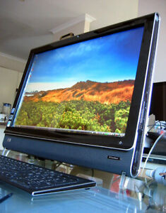 "HP Touch Smart 22"" LCD Touch Screen AIO PC Windows Vista Microsoft Office IQ500"