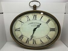 New ListingFaux Antique Brass Oval Wall Clock Decorative Galerie du Gaston Reproduction