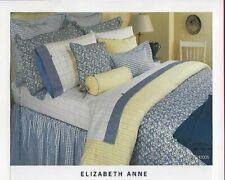 Tommy Hilfiger Elizabeth Anne Throw Pillow 20 X 16 Windowpane Blue White Euc