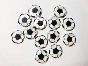 50 Fussball-Perlen 16mm Sport Acryl für Halsketten und anderen Schmuckzur WM