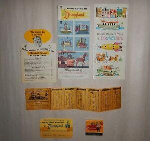 original 1955 1956 Disneyland paper grouping brochure Maxwell House Frito Kid