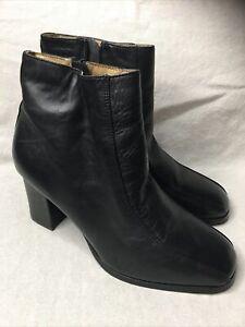 Prima Royale Womens Ankle Black Boots Heels Pump Size 8M
