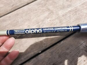 "Vintage Shakespeare Alpha Graphite Composite  6'6""' Medium Action Spinning Rod"