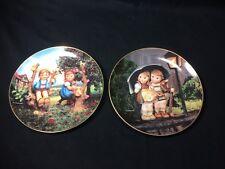 2 Hummel Little Companions 8.5� Plates Danbury Mint Tv5918