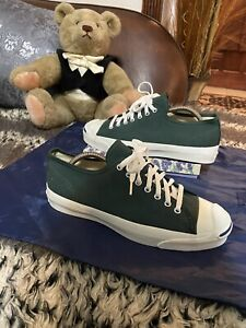 Vintage CONVERSE JACK PURCELL Green Size 9.5  Made In USA  Rare color way!