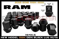 "2012-2016 RAM 1500 M14X1.5 BLACK FACTORY STYLE LUG NUTS 22MM HEX 1.5"" TALL"