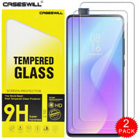 For Xiaomi Mi 9T / 9T Pro Caseswill HD Tempered Glass Screen Protector [2-PACK]