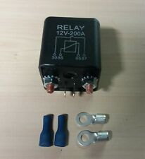 Split Charge Relay Heavy Duty 200 Amp 12V - Leisure Battery On/Off Auto  Switch