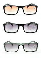 TN68 Tinted Bifocal Multi Purpose Eyeglasses & Sun Reading Glasses in 3 Colours
