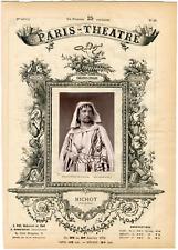 Lemercier, Paris-Théâtre, Michot, chanteur Vintage albumen Print Tirage albu