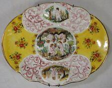 Prunkvolle große Schale aus Porzellan - Putten Putti Engel wohl um 1910 - 38 cm
