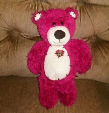 First & Main TENDER TEDDY Bear 11in Red Fuzzy Plush Lovey #1415