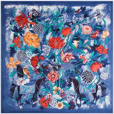 "Women's Fashion Printed Twill Silk Floral Horses Square Scarf Shawl 51""*51"""