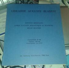 Librairie Auguste Blaizot. Catalogue n° 341. Editions originales, etc.