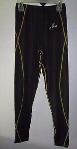 X-Prin Cool Cycling Pants Base Layer compression Legging Sports Black Yellow