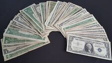 ✯ Lot Of (5) $1 U.S. Silver Certificates ✯ 1935 1957 ✯ Old Currency Money ✯
