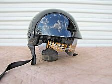 Harley Davidson HD-H03 Half Helmet Gloss Black with Bag and Shield M Medium