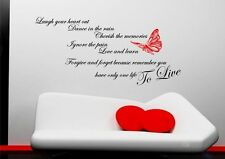 Forgive Forget Memories Love Wall Art Quote Sticker Decal Mural Transfer Stencil
