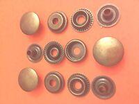 "25 Set 15 mm Poppers Snap Fastener Ring Socket Gun Metal Black Solid Brass 5//8/"""