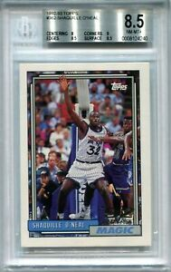 1992-93 Topps 362 Shaquille O'Neal Rookie BGS 8.5 NM-MT+