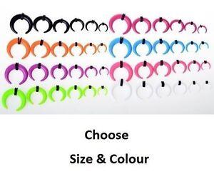 Acrylic Plastic Buffalo Horn Ear lobe Plug Stretcher Taper Choose Size & Colour