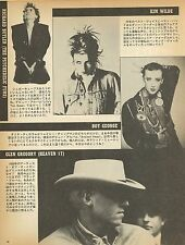 Kim WILDE / Boy George (CULTURE CLUB) Japan press article 1982 clipping magazine