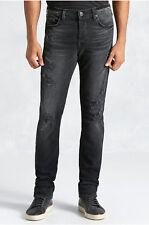 True Religion Men's Rocco Skinny Distressed Jeans in Black Wild Night (42)