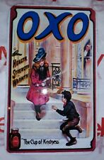 MINI Vintage STYLED 5x3inch OXO Tea Cup Of Kindness REPLICA Wall Hanging SIGN Ad